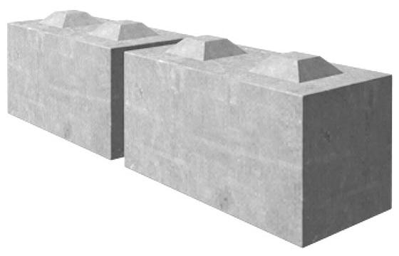 Betongkloss størrelse 80-40-40
